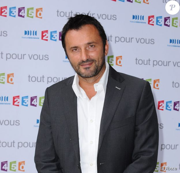 Frédéric Lopez lors de la conférence de presse de la rentrée de France Télévisions le 27 août 2009