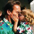 Arnold Schwarzenegger et son fils Christopher. Photo publiée le 27 septembre 2017.