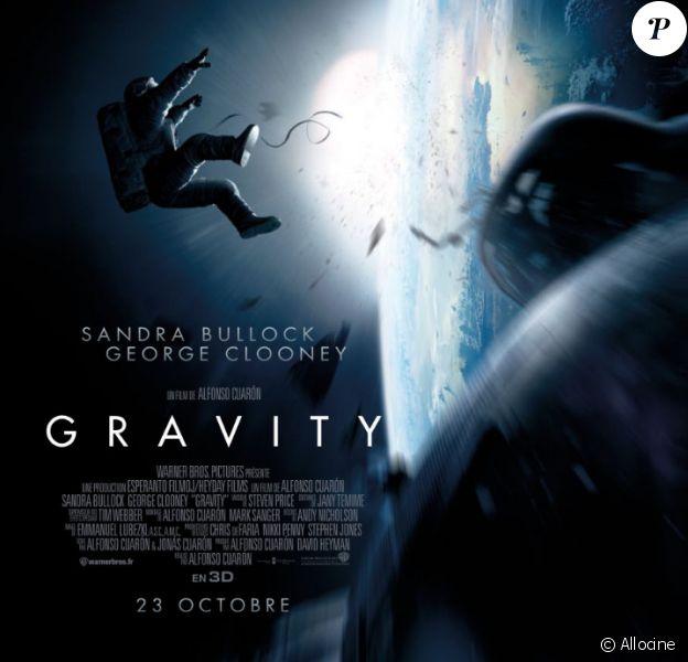 Affiche du film Gravity (2013).