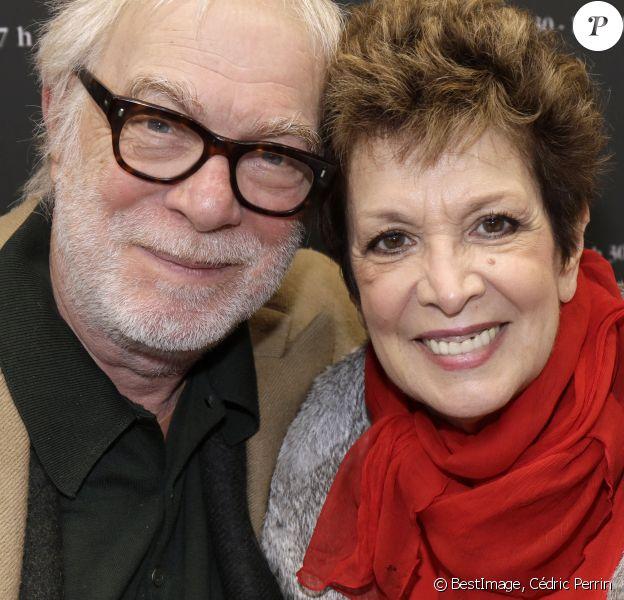 Catherine Laborde et son mari Thomas Stern - Salon du livre de Paris le 16 mars 2019. © Cédric Perrin/Bestimage