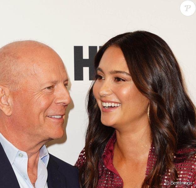 Bruce Willis et sa femme Emma Heming Willis - Les célébrités lors de la première du film 'Brooklyn Affairs' à l'occasion de la 57ème édition du Festival du Film de New York, le 11 octobre 2019.