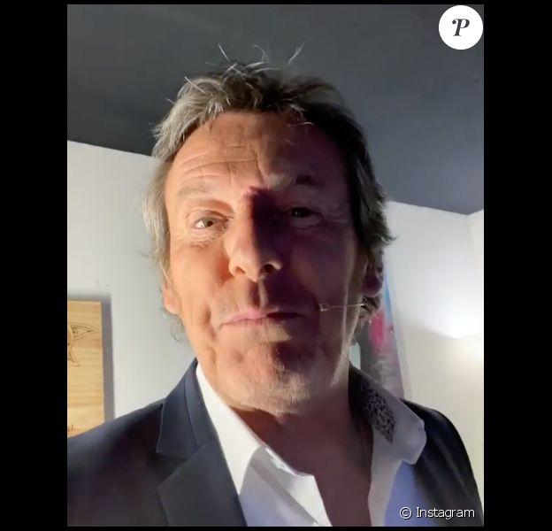 """Jean-Luc Reichmann de retour sur le plateau des """"12 Coups de midi"""" le 11 mai 2020, date du déconfinement."""