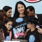 Lucy Liu : même avec le nez bleu, elle est trop mignonne !