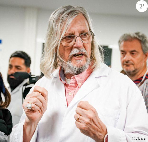 Didier Raoult à l'Institut Hospitalo-Universitaire Méditerranée Infection de Marseille le 2 mars 2020.