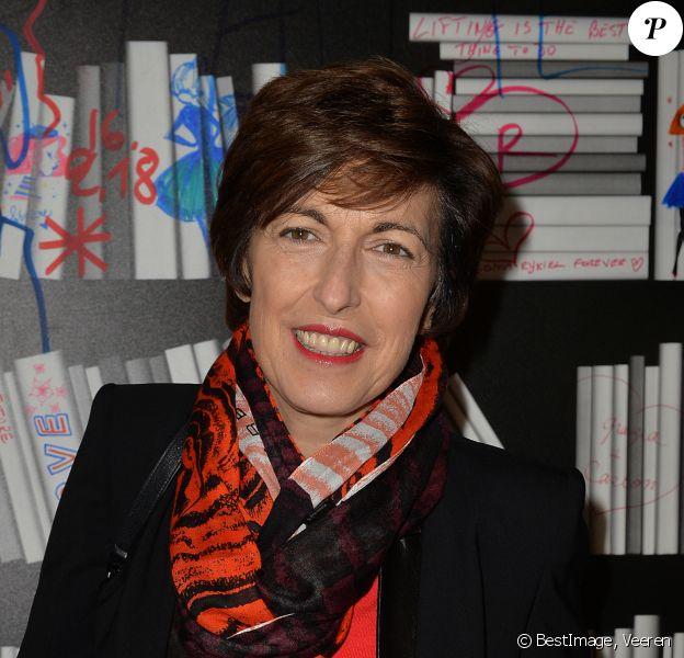 """Ruth Elkrief - Soirée """"Manifesto"""" pour célébrer les 50 ans de la Maison Sonia Rykiel à Paris, le 16 janvier 2018. © Veeren/Bestimage"""
