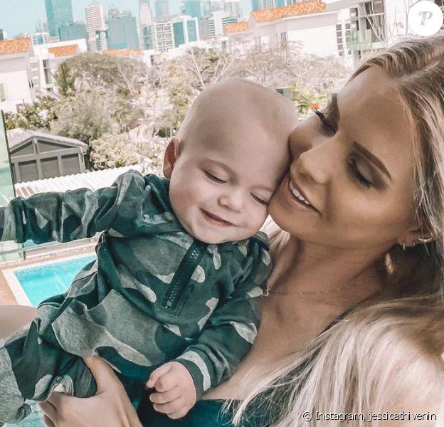 Jessica Thivenin et son fils Maylone sur Instagram, le 27 mars 2020