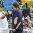 Andy Roddick, Will Ferrell, Andy Murray et Will Arnett lors de l'Arthur Ashe Kids' Day 2009
