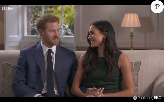 Le prince Harry et Meghan Markle lors de leur interview pour la BBC, juste après leurs fiançailles, en novembre 2017.