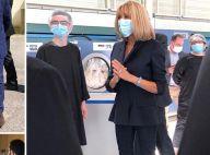Brigitte Macron hors de l'Élysée : masquée et élégante sur le terrain