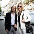 Tonya Kinzinger et son époux Bernard Lignon - Mariage de Jean-Pierre Pernaut et Nathalie Marquay à Paris. Le 23 juin 2007. @ABACAPRESS.COM