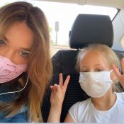 Carla Bruni partage de rares photos de Giulia, joli visage derrière son masque
