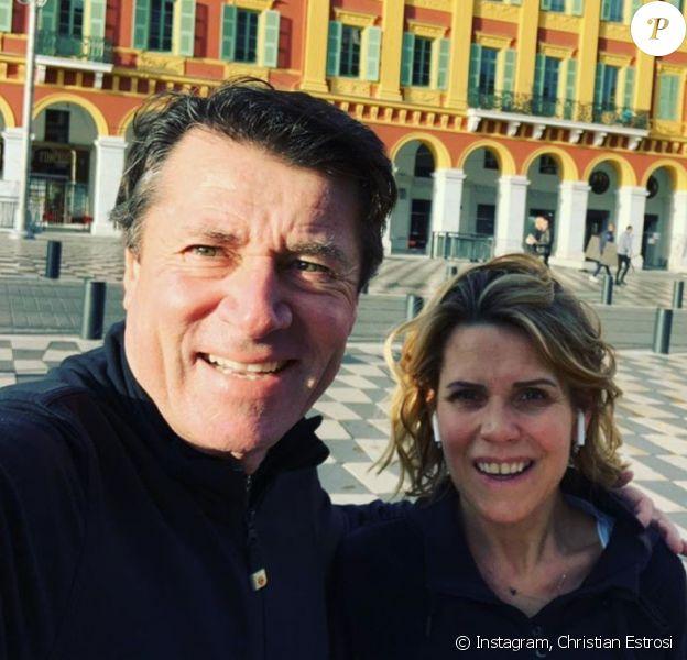 Christian Estrosi et Laura Tenoudji à Nice. Janvier 2020.
