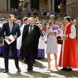 Le prince William, duc de Cambridge, et Kate Catherine Middleton, duchesse de Cambridge, ont assisté à la messe de Pâques en la cathédrale St Andrews à Sydney lors de leur visite officielle en Australie. Le 20 avril 2014