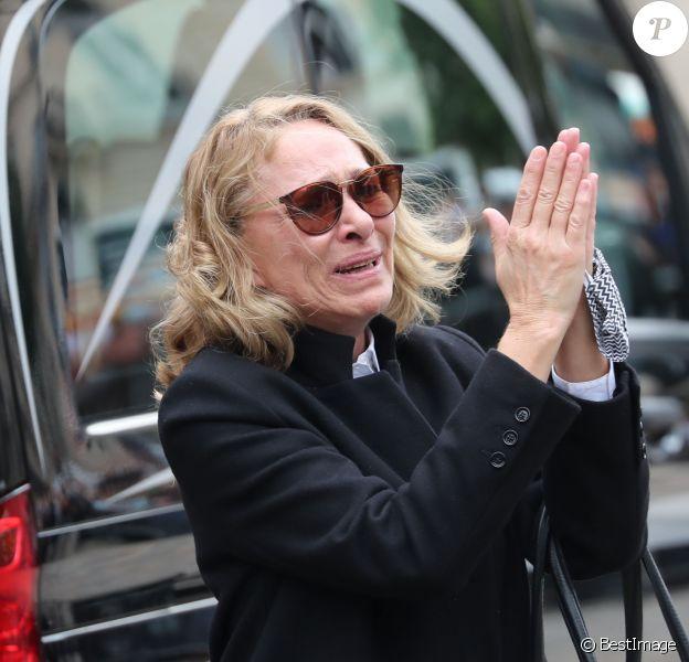 Joëlle Bercot (femme de Guy Bedos) - Hommage à Guy Bedos en l'église de Saint-Germain-des-Prés à Paris le 4 juin 2020.