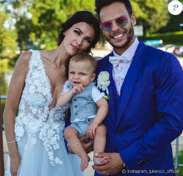 Julie Ricci, PJ et Gianni le jour de leur mariage, le 25 novembre 2019