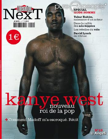 Le rappeur Kanye West en couverture de Libération Next