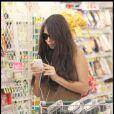 Oksana Grigorieva fait son supermarché à Los Angeles le 4 septembre 2009