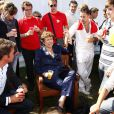 Roselyne Bachelot très bien entourée à l'Université d'été de l'UMP à Seignosse dans les landes (5 septembre 2009)