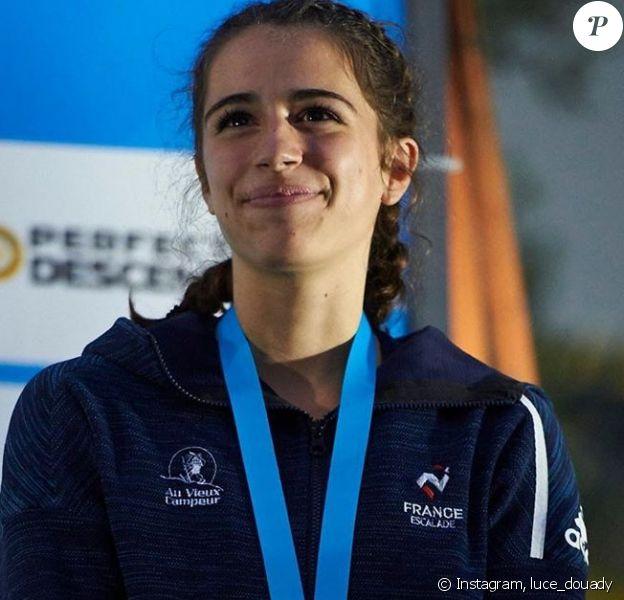 Luce Douady le 26 août 2019. Grand espoir de l'escalade, elle est décédée le 14 juin 2020 en Isère, après avoir fait une chute d'environ 150 mètres.