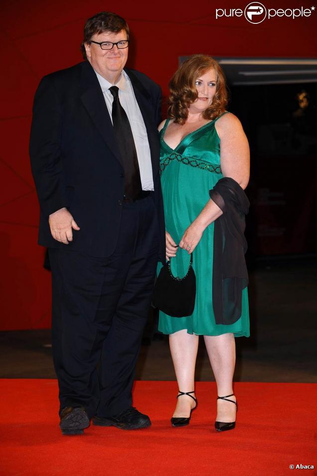 Michael Moore et sa femme Kathleen Glynn, à l'occasion de la présentation officielle de  Capitalism : A love story , lors de la 66e Mostra de Venise, le 6 spetembre 2009 !