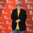 Michael Moore, à l'occasion de la présentation officielle de  Capitalism : A love story , lors de la 66e Mostra de Venise, le 6 spetembre 2009 !