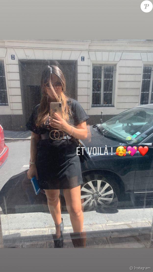 Joyce Jonathan dévoile son ventre arrondi sur Instagram, le 19 juin 2020.