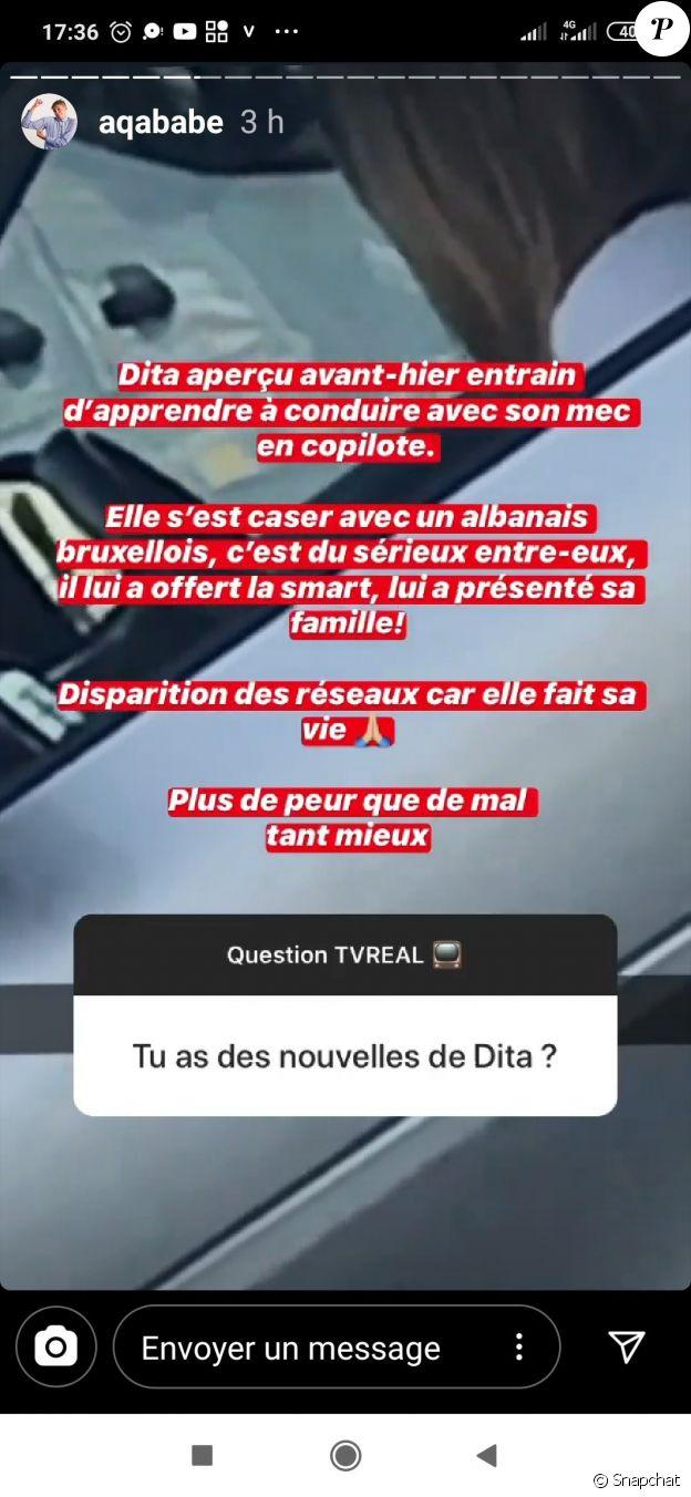 Aqababe répond aux rumeurs sur Dita Istrefi, Snapchat (juin 2020).