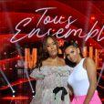 """Exclusif - Scène - Amel Bent et Imen Es - Enregistrement de l'émission """"Tous ensemble pour la musique"""" pour la fête de la musique 2020 à l'AccorHotels Arena à Paris le 18 juin 2020. © Cyril Moreau / Veeren Ramsamy / Bestimage"""