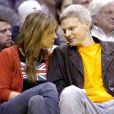 Elizabeth Hurley et son ex-mari Steve Bing à Los Angeles. Le 9 novembre 2001.