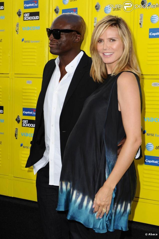 Seal et Heidi Klum, bien enceinte, à la projection du documentaire Get Schooled. 08/09/09
