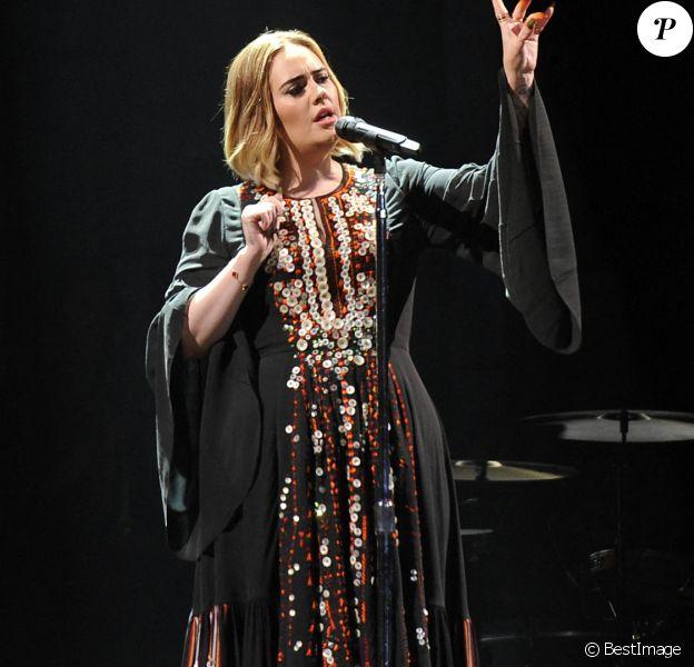 Concert de Adele à l'occasion du festival de Glastonbury le 25 juin 2016.