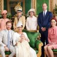 La mère de Meghan Doria Raglan, Camilla Parker Bowles, duchesse de Cornouailles, le prince Charles, prince de Galles, le prince William, duc de Cambridge, et Catherine (Kate) Middleton, duchesse de Cambridge, lady Jane Fellowes, lady Sarah McCorquodale - Le prince Harry et Meghan Markle, duc et duchesse de Sussex, photos du baptème de leur fils Archie Harrison Mountbatten-Windsor. Windsor, le 6 juillet 2019. ©Chris Allerton via Bestimage