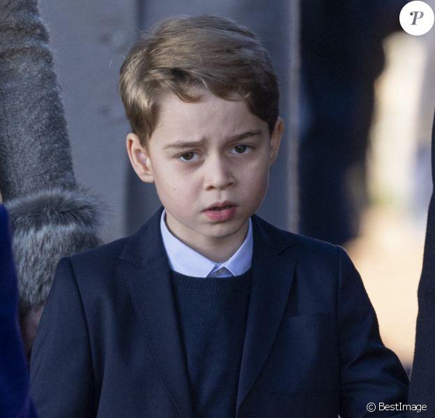 Le prince George de Cambridge lors de la messe de Noël en l'église Sainte-Marie-Madeleine à Sandringham au Royaume-Uni, le 25 décembre 2019.