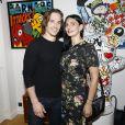 Thibault Perez, sa compagne Sylvie Ortega Munos lors du vernissage Jacky Jayet et ses Ours à la Galerie Art and Sound, Paris le 25 Juin 2020. © Marc Ausset Lacroix / Bestimage