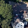 """Vue aérienne, en août 2019, de la propriété de Scott Borgerson, compagnon supposé de Ghislaine Maxwell, à Manchester-by-the-Sea (Massachusetts), chez qui l'amie et """"entremetteuse"""" de l'affaire Jeffrey Epsteinse serait cachée pour échapper aux poursuites."""