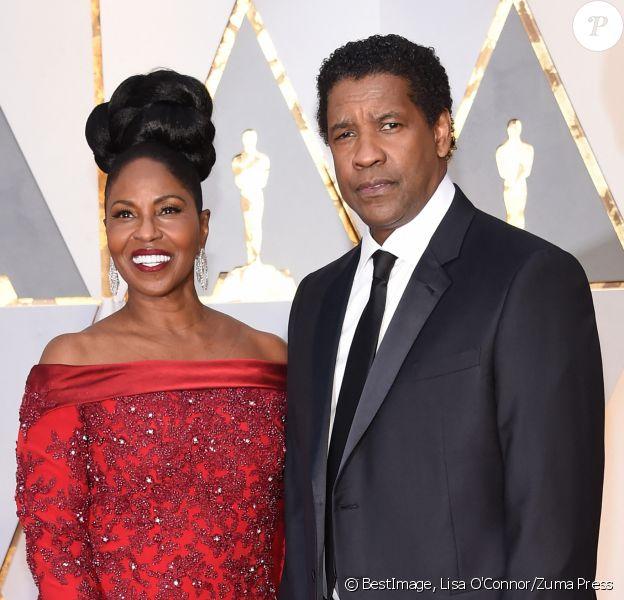 Denzel Washington et sa femme Pauletta - Les célébrités arrivent à la 89ème cérémonie des Oscars au Hollywood & Highland Center à Hollywood, le 26 février 2017. © Lisa O'Connor/Zuma Press/Bestimage