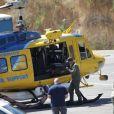 Les recherches se poursuivent au lac Piru pour retrouver l'actrice Naya Rivera, portée disparu. Le 9 juillet 2020.