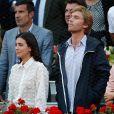Alessandra de Osma et le prince Christian de Hanovre dans les tribunes lors de la finale du Masters de Madrid, le 12 mai 2019.