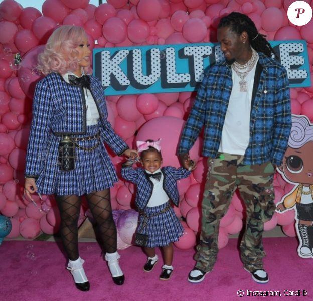 Cardi B et son mari Offset fêtent les 2 ans de leur fille Kulture. Juillet 2020.