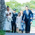 La princesse héritière Victoria de Suède, le prince Daniel et la princesse Estelle ont été rejoints par le prince Carl Philip et la princesse Sofia pour assister à un concert intimiste, coronavirus oblige, dans les vestiges du château de Borgholm le 14 juillet 2020 à l'occasion du 43e anniversaire de Victoria.