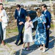 La princesse héritière Victoria de Suède, le prince Daniel et la princesse Estelle ont été rejoints, dans le respect des gestes barrières, par le prince Carl Philip et la princesse Sofia pour assister à un concert intimiste, coronavirus oblige, dans les vestiges du château de Borgholm le 14 juillet 2020 à l'occasion du 43e anniversaire de Victoria.