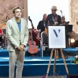 La princesse héritière Victoria de Suède a remis le prix à son nom au champion de saut à la perche Armand Dumantis lors du concert intimiste, coronavirus oblige, organisé dans les vestiges du château de Borgholm le 14 juillet 2020 à l'occasion de son 43e anniversaire.
