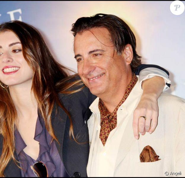 Andy Garcia et sa fille sont venus présenter à Deauville la comédie... familiale City Island, le 10 septembre 2009