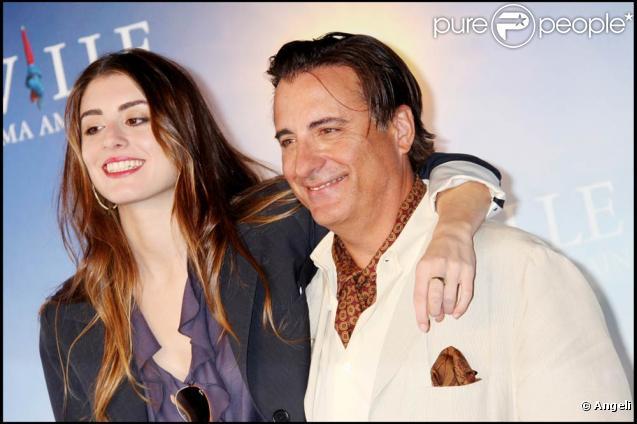 Andy Garcia et sa fille sont venus présenter à Deauville la comédie... familiale  City Island , le 10 septembre 2009