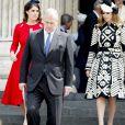 Le prince Andrew, duc d'York et ses filles la princesse Eugenie d'York et la princesse Beatrice d'York - La famille royale d'Angleterre assiste à une messe en la cathédrale St Paul de Londres, le 10 juin 2016 pour le 90ème anniversaire de la reine Elisabeth (Elizabeth) II d'Angleterre.