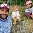Laurent Ournac avec ses enfants Capucine et Léon, le 13 juin 2020