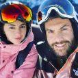 Laurent Ournac et Ludivine au ski, le 31 décembre 2019