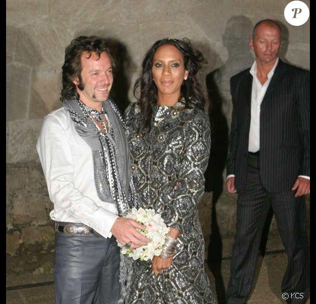 Barbara Feltus et son mari Arne Quinze au Belvedere de Postdam près de Berlin