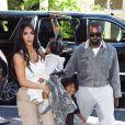 Kim Kardashian est allée assister avec ses enfants Saint West, North West et Chicago West à la messe dominicale de son mari Kanye West à New York, le 29 septembre 2019