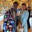 Black M et son épouse Léa Djadja ont assisté au défilé Stella McCartney, collection automne-hiver 2020-2021, à l'Opéra Garnier. Paris, le 2 mars 2020.